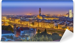 View on Florence at night Self-Adhesive Wall Mural