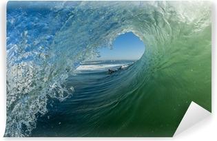 Wave Hollow Tube Ride Surfer Angle Self-Adhesive Wall Mural