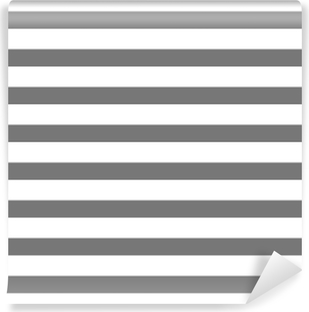 White and gray striped Self-Adhesive Wall Mural
