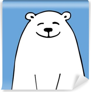 White bear, sketch for your design Self-Adhesive Wall Mural