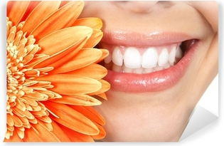 Woman teeth Self-Adhesive Wall Mural