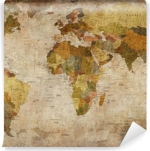 World Map Self-Adhesive Wall Mural