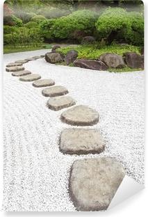 Zen stone path in a Japanese Garden Self-Adhesive Wall Mural