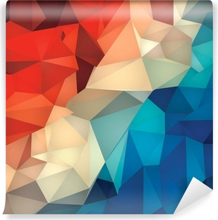 Abstrakt geometrisk lav poly baggrund. Selvklæbende fototapet
