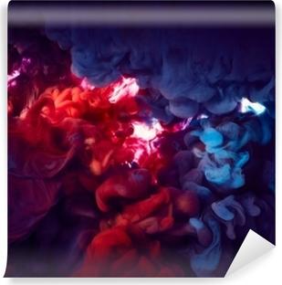 Blæk i vand. abstrakt baggrund Selvklæbende fototapet