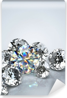 Diamant juvel isoleret Selvklæbende fototapet