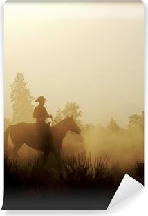 Fredelig Cowboy Selvklæbende fototapet