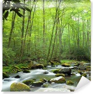 Jungle stream Selvklæbende fototapet