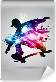 Skateboard Selvklæbende fototapet