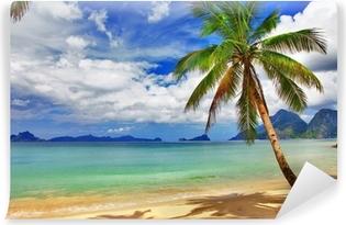Smukke afslappende tropiske landskaber Selvklæbende fototapet