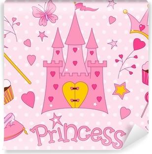 Søde Prinsesse Ikoner Selvklæbende fototapet