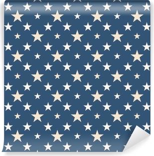 Sødt stjerner mønster Selvklæbende fototapet