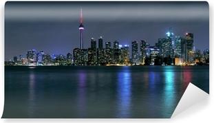Toronto by om natten Selvklæbende fototapet