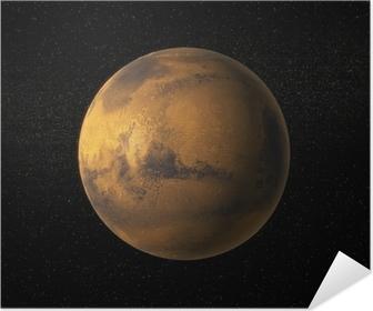Et billede af planet Mars Selvklæbende plakat