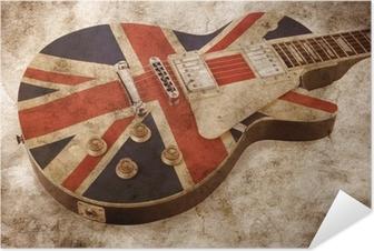 Grunge brit pop guitar Selvklæbende plakat