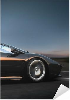 Italiensk sportsvogn Selvklæbende plakat
