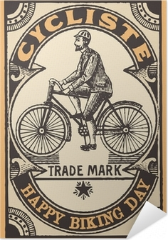 Le cykliste Selvklæbende plakat
