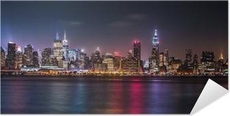 Manhattan Panorama under Pride Weekend Selvklæbende plakat