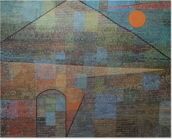 Paul Klee - Ad Parnassum Selvklæbende plakat -