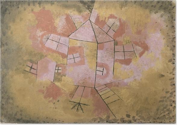 Paul Klee - Revolving House Selvklæbende plakat -