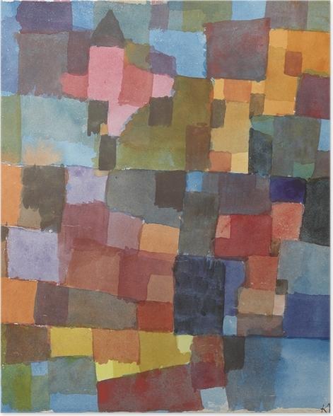 Paul Klee - Space Archotecture Selvklæbende plakat -