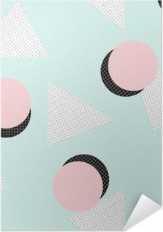 Retro geometrisk mønster Selvklæbende plakat