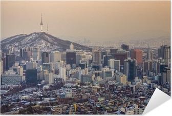 Seoul, Sydkorea Skyline Selvklæbende plakat