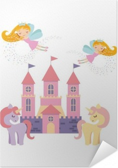 Sød pink fantasy slot vektor illustration design Selvklæbende plakat