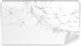 5903540d Selvklebende fototapet 3d nettverksteknologi i fremtiden