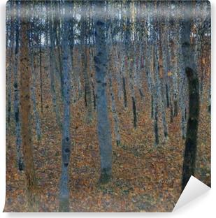 Selvklebende fototapet Gustav Klimt - Birch Forest