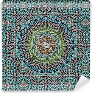 Selvklebende fototapet Razil maurisk sømløs mønster
