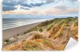 Selvklebende fototapet Rossbeigh stranddyner ved solnedgang, Irland