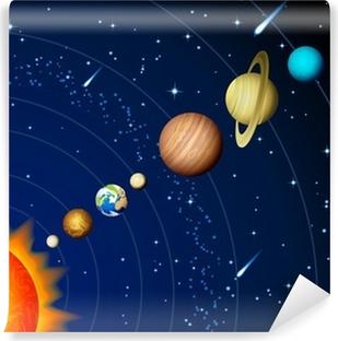 Selvklebende fototapet Solsystemet