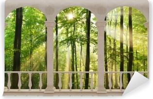 Selvklebende fototapet Terrasse - Skog