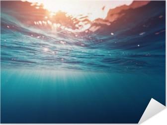 Selvklebende plakat Blå sjø