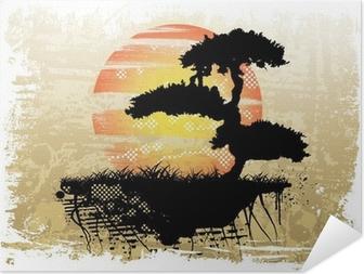 Selvklebende plakat Bonsai bakgrunn