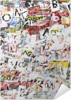Selvklebende plakat Grunge Teksturert Bakgrunn
