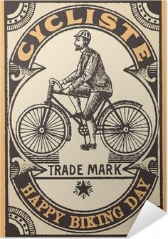 Selvklebende plakat Le cycliste
