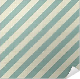 Selvklebende plakat Retro sømløs geometrisk mønster