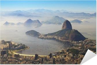 Selvklebende plakat Sugarloaf, Rio de Janeiro, Brasil