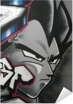 Selvklebende plakat Tag de personnage en couleur