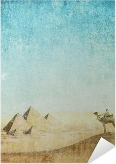 Selvklebende plakat Vintage bakgrunn