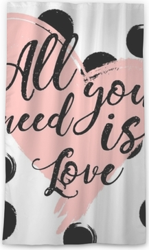 all you need is love. design for holiday greeting card and invitation of the wedding Sheer Window Curtain