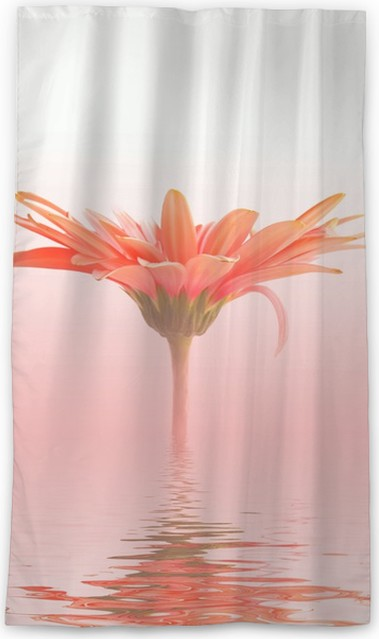 Pink flower in water sheer window curtain pixers we live to change pink flower in water sheer window curtain mightylinksfo