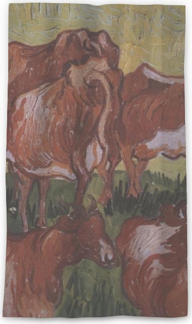 da30360affe301 Vincent van Gogh - Cows Sheer Window Curtain • Pixers® • We live to ...