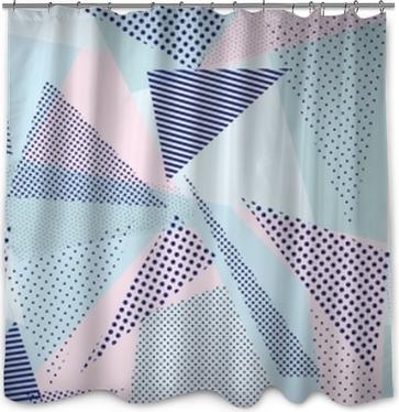 背景 模様(パステルカラー) Shower Curtain