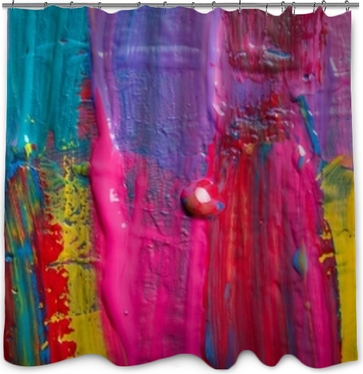 Abstract art background. Hand-painted background Shower Curtain
