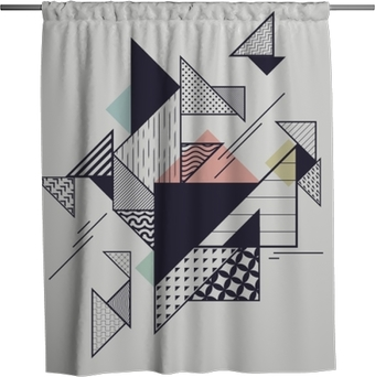 Abstract modern geometric composition Shower Curtain