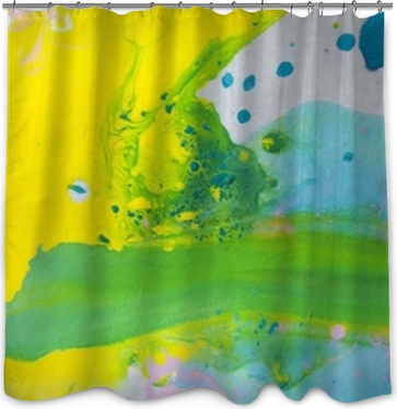 Abstract Painted Background Shower Curtain