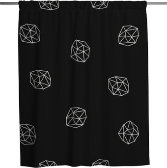 Abstract Polygons Seamless Pattern Shower Curtain